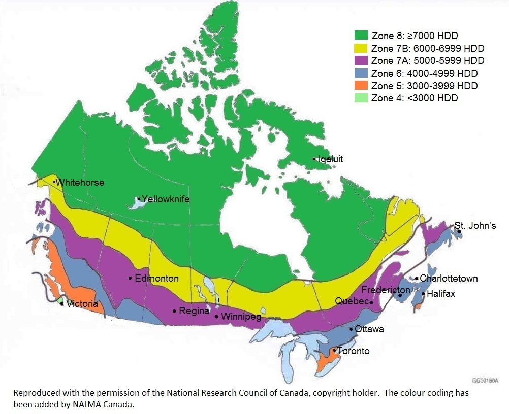 climate zone map of Canada